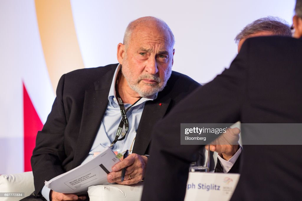 Joe Stiglitz, economics professor at Columbia University, listens during the International Economic Association (IEA) World Congress event in Mexico City, Mexico, on Monday, June 19, 2017. The theme of the congress is Globalization, Growth and Sustainability. Photographer: Brett Gundlock/Bloomberg via Getty Images