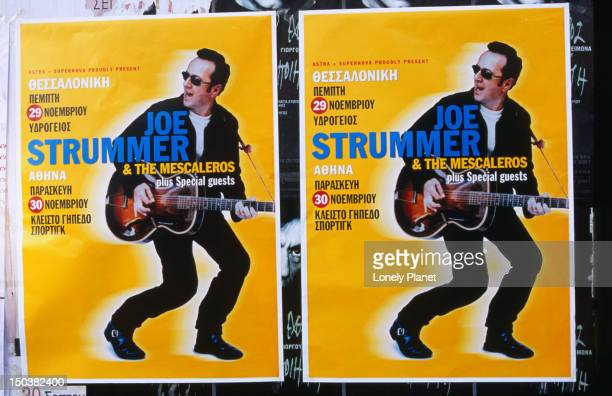 Joe Strummer (of The Clash fame) in concert in downtown Athens.