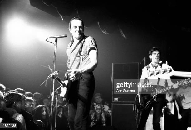 Joe Strummer lead singer of the Clash performs in concert at the Roxy Theater March 27 1980 in Los Angeles Strummer died of a heart attack in January...