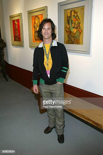 Joe Strummer Let's Rock Again filmmaker Dick Rude poses at the Kodak Producers' Reception during the 2004 Tribeca Film Festival at Tribeca Performing...
