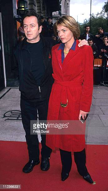 Joe Strummer of The Clash with wife during Q Awards 2000 at London in London Great Britain