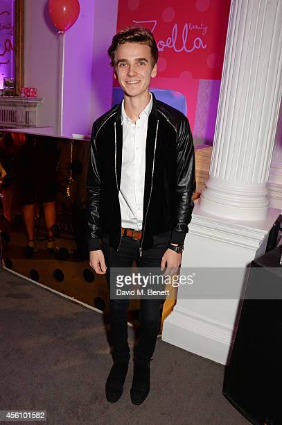 Joe Sugg aka Thatcherjoe attends YouTube phenomenon Zoe Sugg's launch of her debut beauty collection at 41 Portland Place on September 25 2014 in...