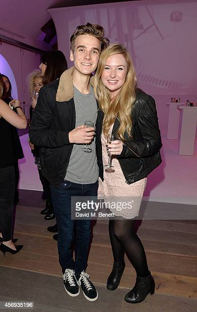 Joe Sugg and Maddie Chester attend as Ruth Crilly unveils a new haircare sensation 'Colab' on October 9 2014 in London England