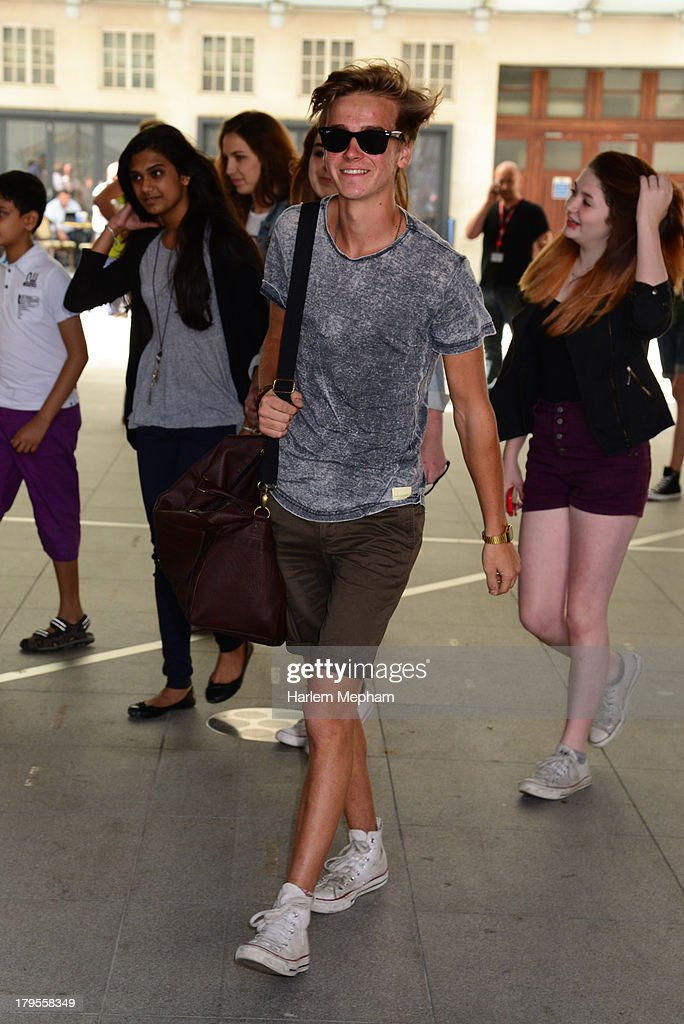 Joe Sugg arrives at BBC Radio One on September 5, 2013 in London, England.
