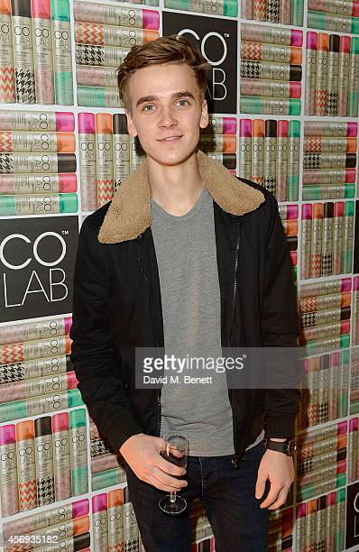 Joe Sugg attends as Ruth Crilly unveils a new haircare sensation 'Colab' on October 9 2014 in London England