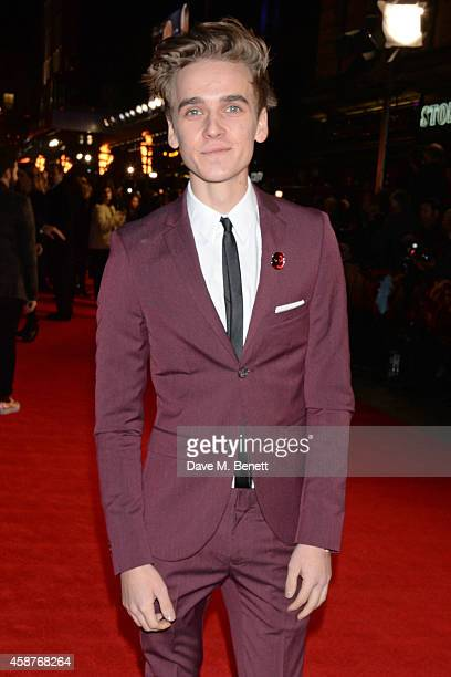 Joe Sugg attends the World Premiere of 'The Hunger Games Mockingjay Part 1' at Odeon Leicester Square on November 10 2014 in London England