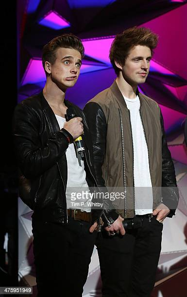 Joe Suggs and Marcus Butler onstage at NCS YES Live at Brixton Academy on March 1 2014 in London England