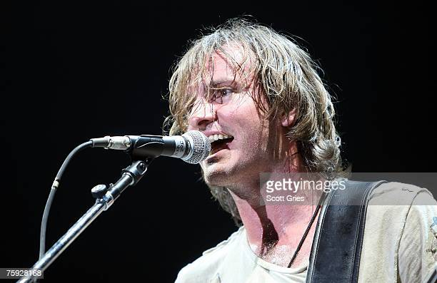 Joe Sumner Sting's son and singer for Fiction Plane performs onstage at Madison Square Garden on August 1 2007 in New York City