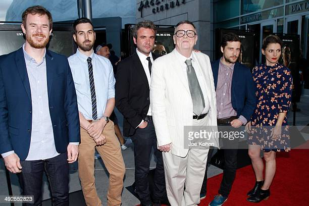 Joe Swanberg Ti West AJ Bowen Gene Jones Kentucker Audley and Amy Seimetz attend 'The Sacrament' Los Angeles Premiere at ArcLight Cinemas on May 20...