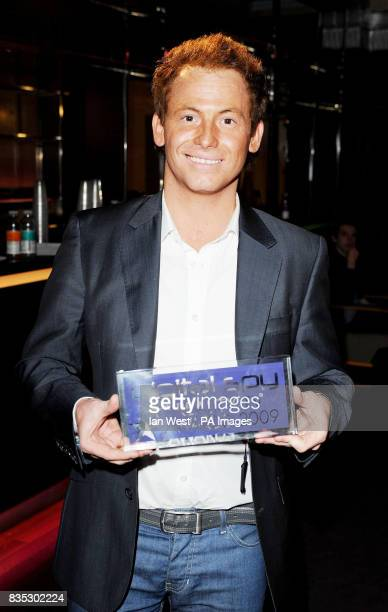 Joe Swash wins Best Celebrity contestant and the Best Winner award at the Digital Spy Reality TV Awards at the Bloomsbury Ballroom in London