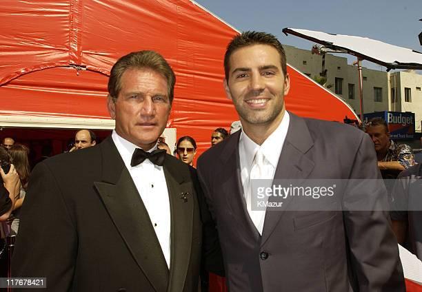 Joe Theisman and Kurt Warner during 2002 ESPY Awards Arrivals at The Kodak Theater in Hollywood California United States