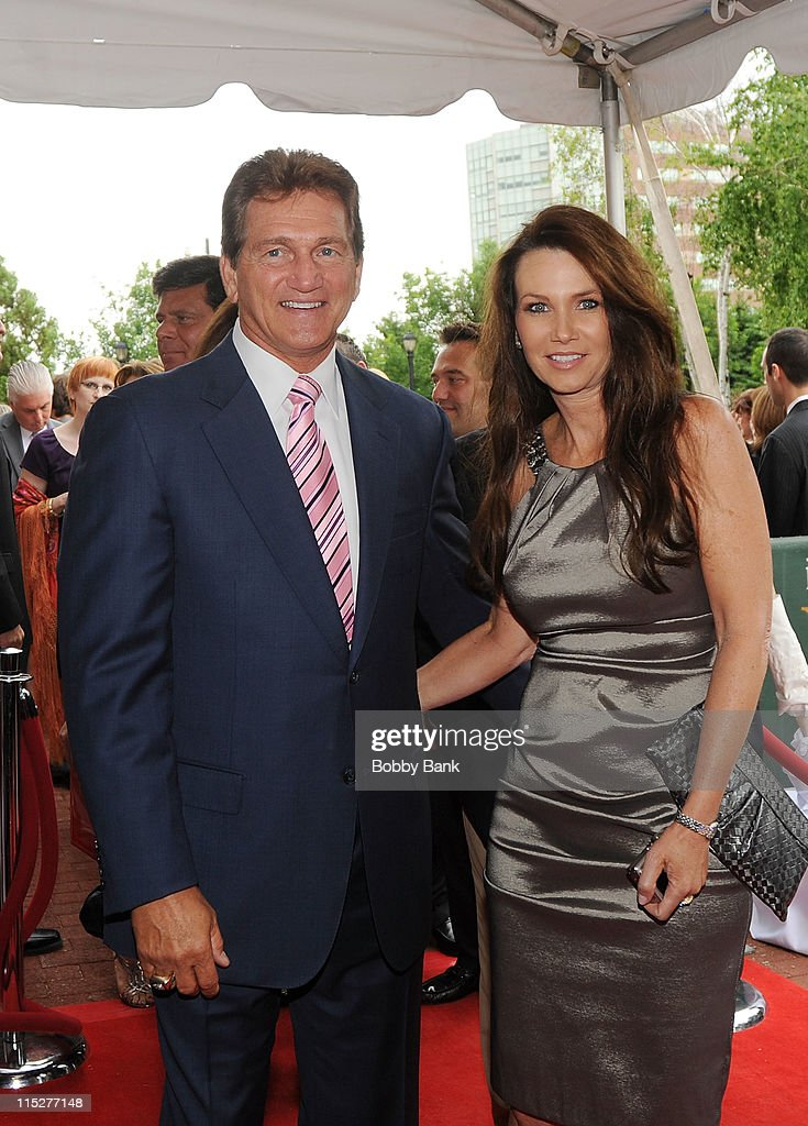 Joe Theismann and Robin Theismann attends the 2011 New Jersey Hall of Fame Induction Ceremony at the New Jersey Performing Arts Center on June 5, 2011 in Newark, New Jersey.
