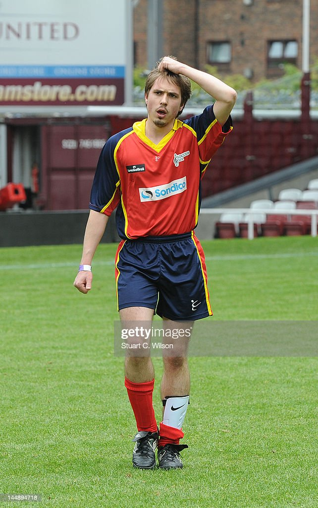 Joe Thomas attends the Celebrity Soccer Six 2012 Tournament at Upton Park on May 20, 2012 in London, England.