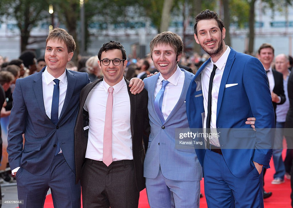 Joe Thomas, <a gi-track='captionPersonalityLinkClicked' href=/galleries/search?phrase=Simon+Bird&family=editorial&specificpeople=4877799 ng-click='$event.stopPropagation()'>Simon Bird</a>, James Buckley and <a gi-track='captionPersonalityLinkClicked' href=/galleries/search?phrase=Blake+Harrison&family=editorial&specificpeople=5800049 ng-click='$event.stopPropagation()'>Blake Harrison</a> attend the World Premiere of 'The Inbetweeners 2' at Vue West End on August 5, 2014 in London, England.