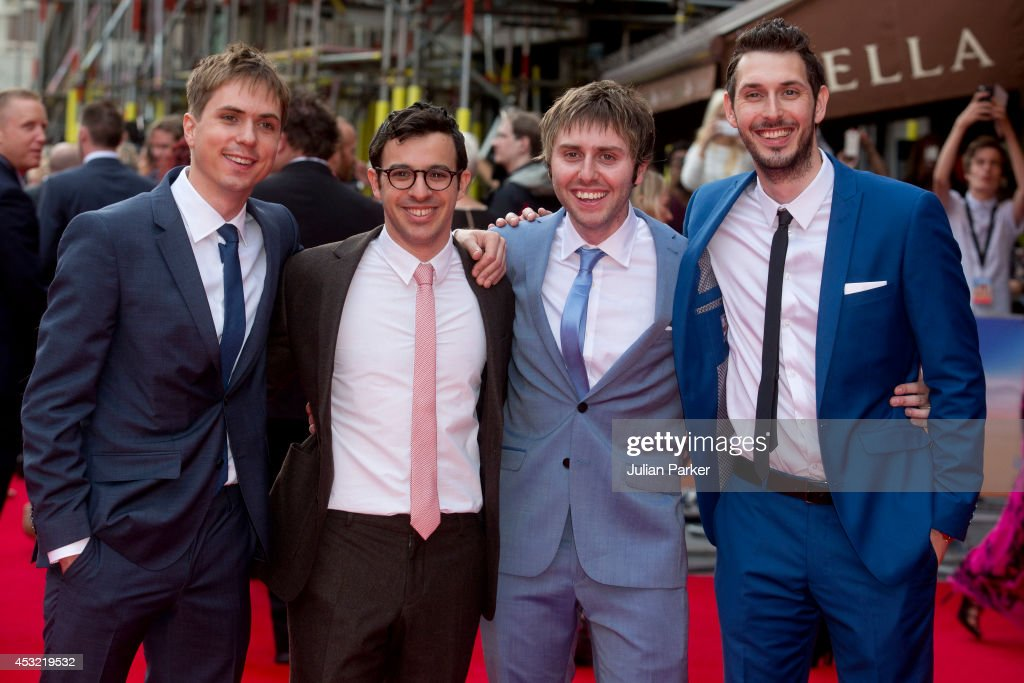 Joe Thomas, <a gi-track='captionPersonalityLinkClicked' href=/galleries/search?phrase=Simon+Bird&family=editorial&specificpeople=4877799 ng-click='$event.stopPropagation()'>Simon Bird</a>, James Buckley and <a gi-track='captionPersonalityLinkClicked' href=/galleries/search?phrase=Blake+Harrison&family=editorial&specificpeople=5800049 ng-click='$event.stopPropagation()'>Blake Harrison</a> attends the World Premiere of 'The Inbetweeners 2' at Vue West End on August 5, 2014 in London, England.