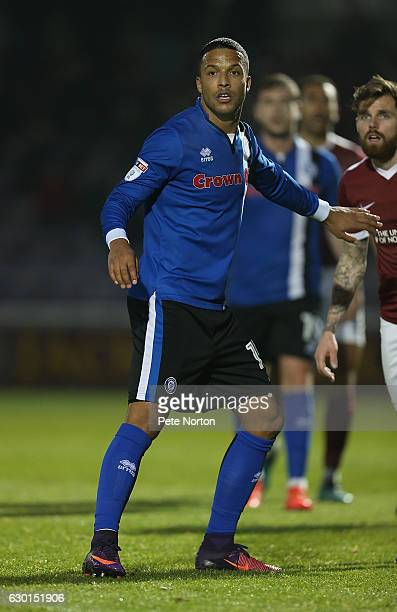 Joe Thompson of Rochdale in action during the Sky Bet League One match between Northampton Town and Rochdale at Sixfields on December 17 2016 in...