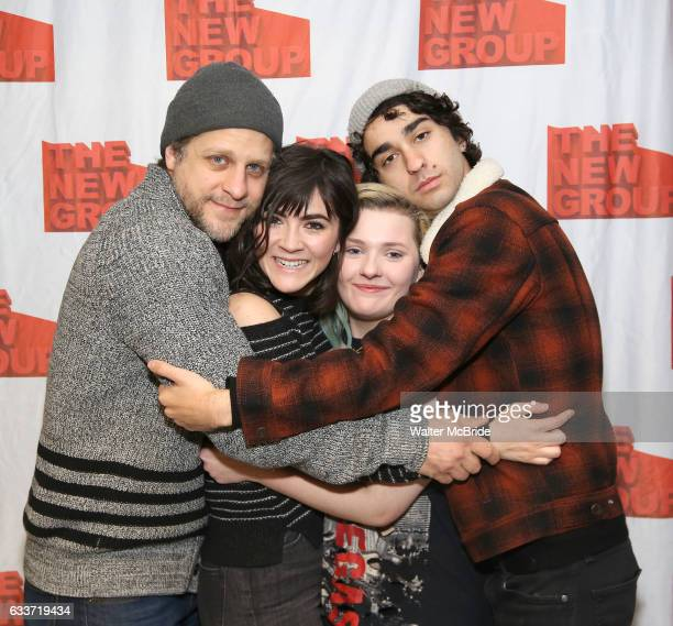 Joe Tippett Isabelle Fuhrman Abigail Breslin and Alex Wolff attend the New Group's 'All the Fine Boys' rehearsal photocall at their rehearsal studio...