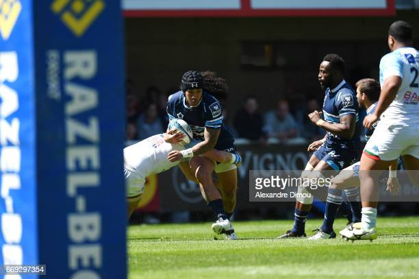 Joe Tomane of Montpellier during the Top 14 match between Montpellier and Bayonne on April 16 2017 in Montpellier France