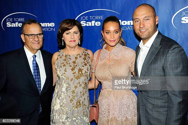 Joe Torre Alice Torre Hannah Davis and Derek Jeter attend the Joe Torre Safe At Home Foundation's 14th Annual Celebrity Gala at Cipriani 25 Broadway...