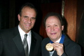 Joe Torre and Billy Crystal during The Actors Fund 'There's No Business Like Show Business' Gala at Cipriani 42nd Street in New York City New York...