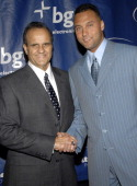 Joe Torre and Derek Jeter during Joe Torre Safe At Home Foundation's Fourth Annual Gala at Pier Sixty in New York City New York United States