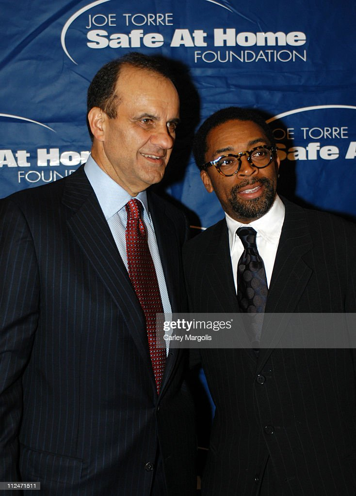Joe Torre and Spike Lee during Joe Torre Safe at Home Foundation's Second Annual Gala at Pierre Hotel in New York City, New York, United States.