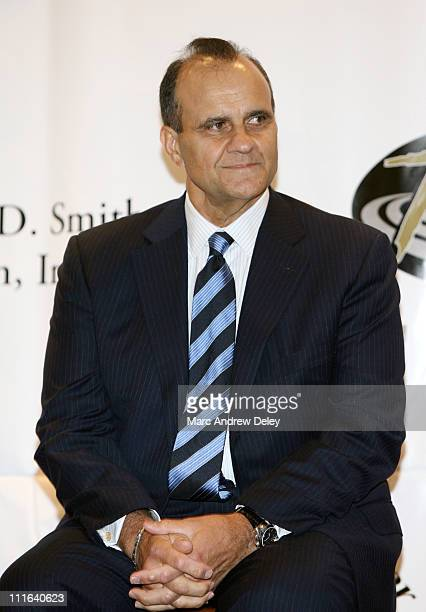 Joe Torre during 10th Annual Derek Jeter Turn 2 Foundation Dinner Press Conference at Marriott Marquis in New York City New York United States