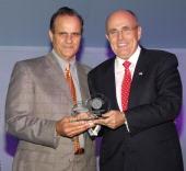 Joe Torre New York Yankees Manager and Rudy Giuliani Former New York City Mayor