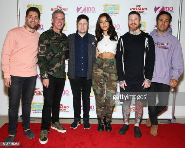 Joe Trohman Elvis Duran Patrick Stump Madison Beer Andy Hurley and Pete Wentz attend Elvis Duran's 2017 Summer Bash at the Pennsy Plaza on July 27...