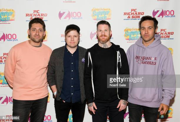 Joe Trohman Patrick Stump Andy Hurley and Pete Wentz of Fall Out Boy attends Elvis Duran's 2017 Summer Bash at the Pennsy Plaza on July 27 2017 in...