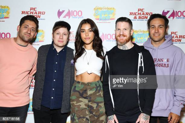 Joe Trohman Patrick Stump Andy Hurley and Pete Wentz of Fall Out Boy and singer Madison Beer attend Elvis Duran's 2017 Summer Bash at the Pennsy...