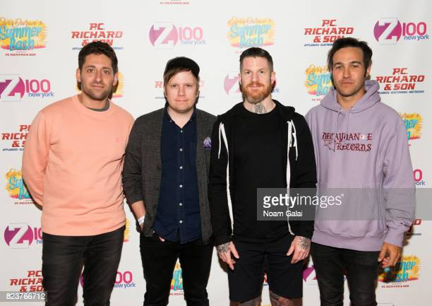 Joe Trohman Patrick Stump Andy Hurley and Pete Wentz of Fall Out Boy attend Elvis Duran's 2017 Summer Bash at the Pennsy Plaza on July 27 2017 in New...