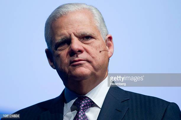 Joe Tucci chairman and chief executive officer of EMC Corp listens during a media event in New York US on Tuesday Jan 18 2011 EMC today introduced...