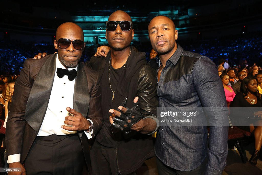 Joe, Tyrese Gibson and Tank attend The 2014 Soul Train Awards on November 7, 2014 in Las Vegas, Nevada.