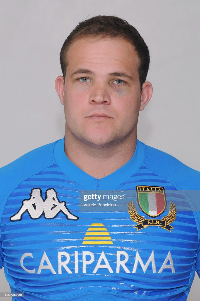 Joe Van Niekerk poses during an Italy A Rugby Union portrait Session on March 5, 2012 in Tirrenia, Italy.
