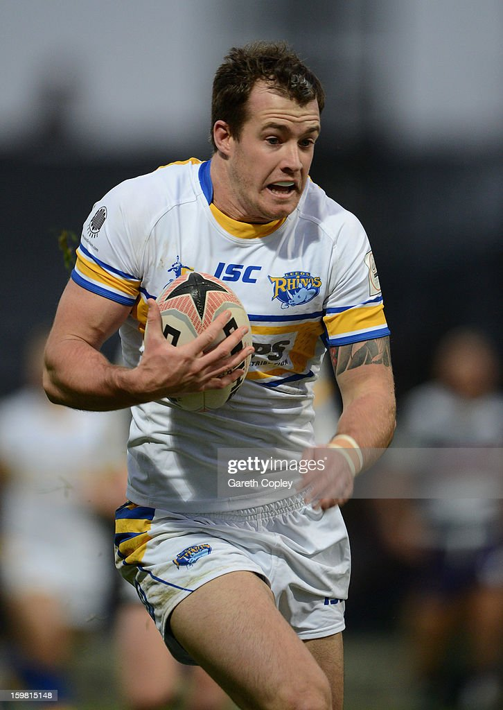 Joe Vickery of Leeds in action during Rugby League pre-season friendly between Leeds Rhinos and Bradford Bulls at Headingley Stadium on January 20, 2013 in Leeds, England.
