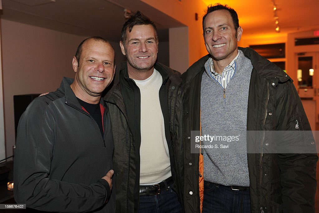 Joe Wagner, Corey Reardon and Albert Sanford attend Angie Stewart, Carolyn Powers, Mona Look-Mazza And Richard Edwards host an exclusive celebration of the Fendi Resort 2013 Collection at Baldwin Gallery on December 22, 2012 in Aspen, Colorado.