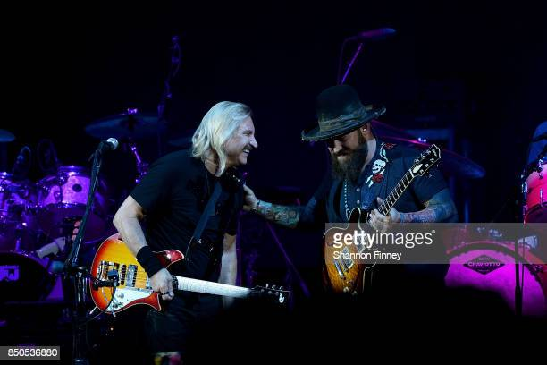 Joe Walsh and Zac Brown perform at the VetsAid Charity Benefit Concert at Eagle Bank Arena on September 20 2017 in Fairfax Virginia