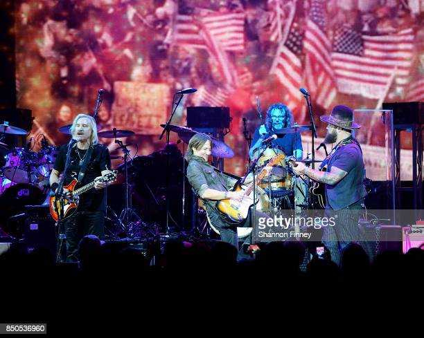 Joe Walsh Keith Urban and Zac Brown perform at the VetsAid Charity Benefit Concert at Eagle Bank Arena on September 20 2017 in Fairfax Virginia