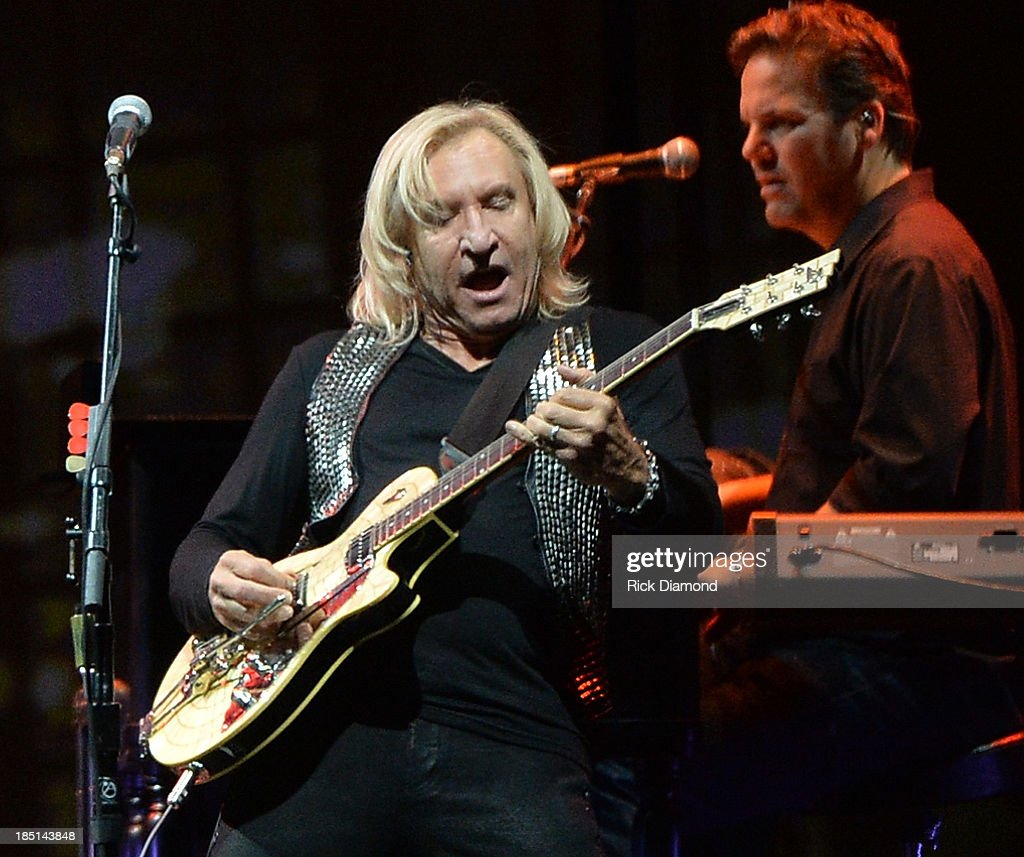 <a gi-track='captionPersonalityLinkClicked' href=/galleries/search?phrase=Joe+Walsh+-+Singer&family=editorial&specificpeople=223888 ng-click='$event.stopPropagation()'>Joe Walsh</a> of the Eagles performs during 'History Of The Eagles Live In Concert' at the Bridgestone Arena on October 16, 2013 in Nashville, Tennessee.