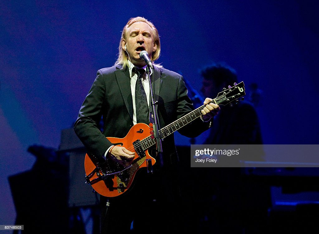 Joe Walsh of The Eagles performs live on the Long Road Out Of Eden Tour at U. S. Bank Arena on November 18, 2008 in Cincinnati, Ohio.