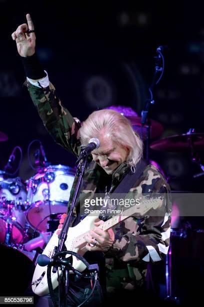 Joe Walsh performs at the VetsAid Charity Benefit Concert at Eagle Bank Arena on September 20 2017 in Fairfax Virginia