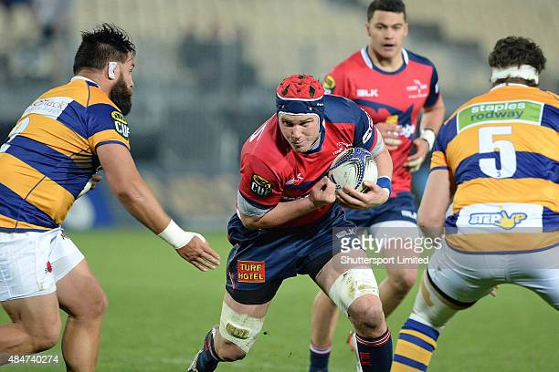 Joe Wheeler of the Tasman Makos on a charge during the ITM Cup match between the Tasman Makos and Bay of Plenty at Trafalgar Park on August 21 2015...
