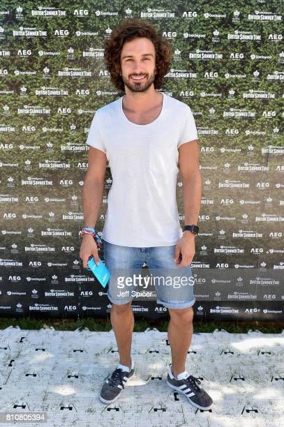 Joe Wicks attends a performance of The Killers during the Barclaycard British Summer Time Festival at Hyde Park on July 8 2017 in London England