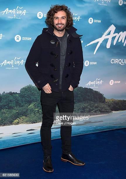 Joe Wicks attends the blue carpet of the Cirque du Soleil Amaluna press night on January 12 2017 in London United Kingdom