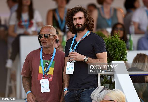 Joe Wicks in the VIP area watching Stevie Wonder perform at the Barclaycard Presents British Summer Time Festival in Hyde Park on July 10 2016 in...