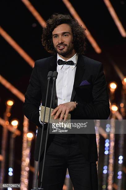 Joe Wicks on stage during the National Television Awards at The O2 Arena on January 25 2017 in London England
