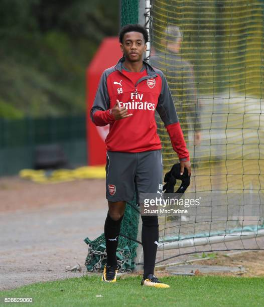 Joe Willock of Arsenal before a training session at London Colney on August 5 2017 in St Albans England