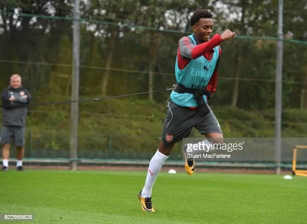 Joe Willock of Arsenal during a training session at London Colney on July 26 2017 in St Albans England