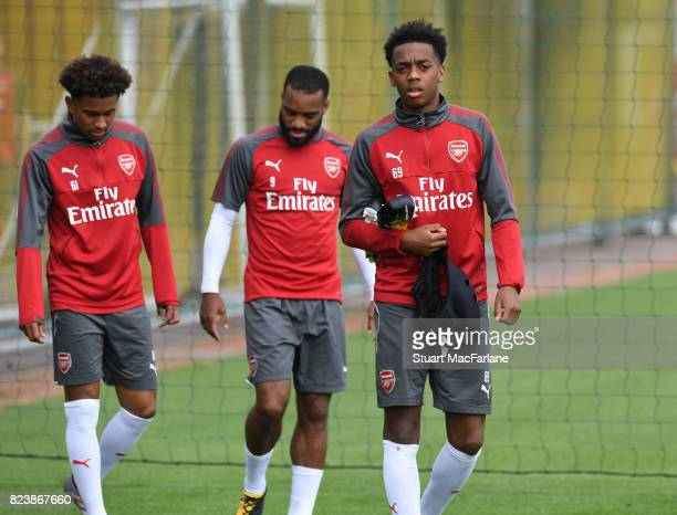 Joe Willock of Arsenal during a training session at London Colney on July 28 2017 in St Albans England